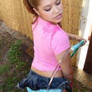 Topanga teen sucking on the waterhose from Teen Topanga