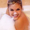 Hot Topanga taking bath at her house from Teen Topanga